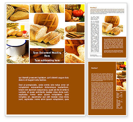 Pastries Word Template