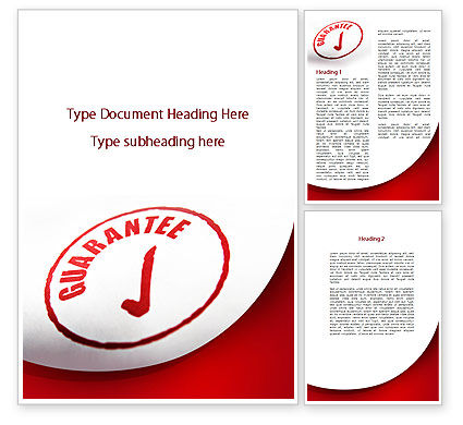 Consulting: Guarantee Seal Word Template #09331