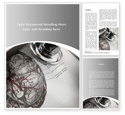 Human Anatomy Word Template, 09337, Medical — PoweredTemplate.com