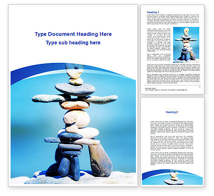 Stone Figures Word Template, 09338, People — PoweredTemplate.com