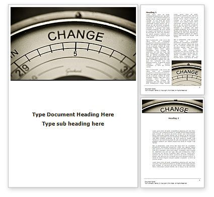 Change Word Template, 09345, Consulting — PoweredTemplate.com