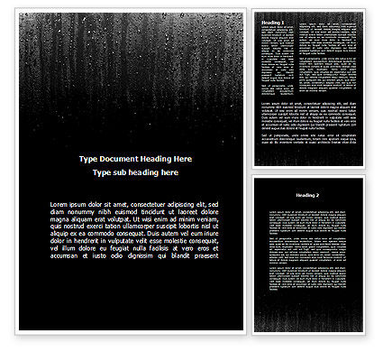 Drops On a Dark Glass Word Template, 09346, Religious/Spiritual — PoweredTemplate.com