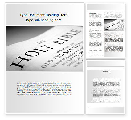Religious/Spiritual: Holy Writ Word Template #09353