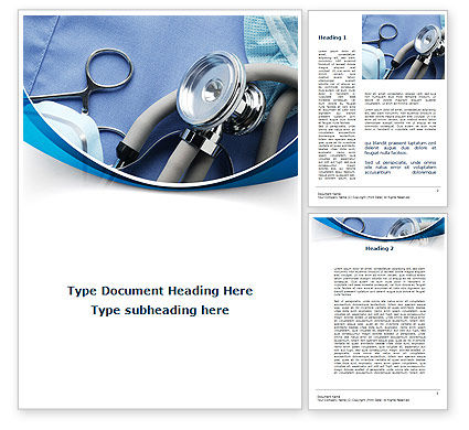 Medical Instruments Word Template, 09354, Medical — PoweredTemplate.com