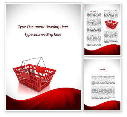 Market Pannier Word Template, 09361, Business — PoweredTemplate.com
