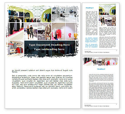Clothing Store Word Template, 09363, Business — PoweredTemplate.com