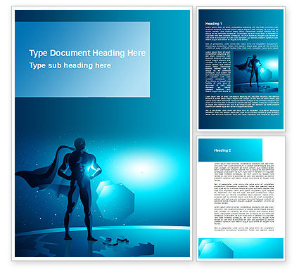 Super Human Creature Word Template, 09365, Consulting — PoweredTemplate.com