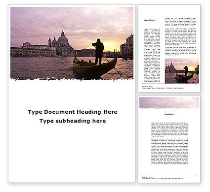 Flags/International: Basilica di Santa Maria Della Salute in Venice Word Template #09371