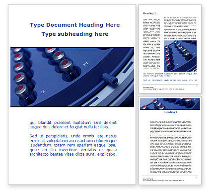 Technology, Science & Computers: Medical Centrifuge Word Template #09386