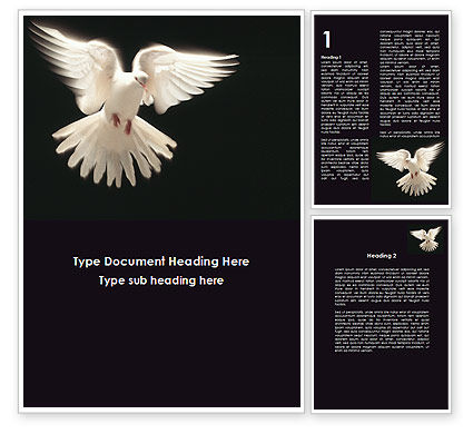 Soaring Dove Word Template