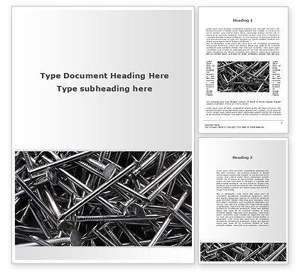 Nails Word Template, 09392, Utilities/Industrial — PoweredTemplate.com