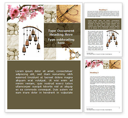 Nature & Environment: Orient Meditation Word Template #09398