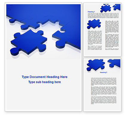 Blue Puzzle Word Template, 09400, Consulting — PoweredTemplate.com