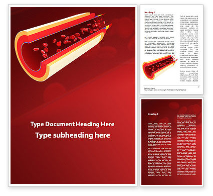Medical: Blood Flow Word Template #09401