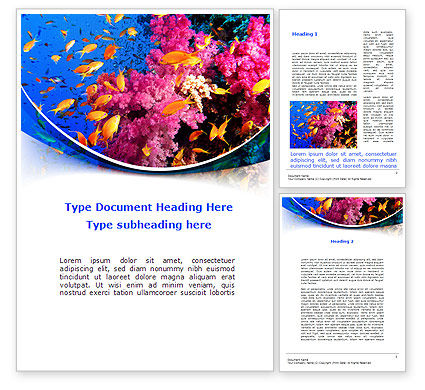 Coral Reef Fishing Word Template