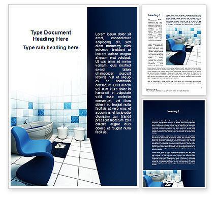Construction: Bathroom Interior Word Template #09419