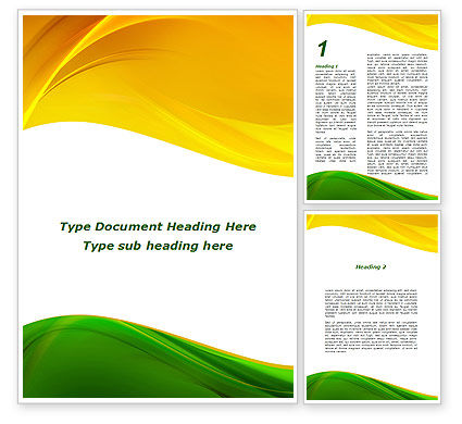 Abstract/Textures: Yellow Green Wave Word Template #09422