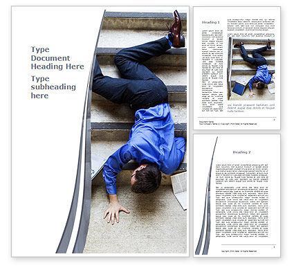 Consulting: Falling Man Word Template #09423