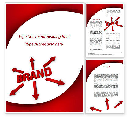 Brand Word Template, 09425, Business — PoweredTemplate.com