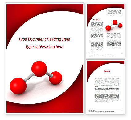 Molecular Triatomic Model Word Template, 09433, Consulting — PoweredTemplate.com