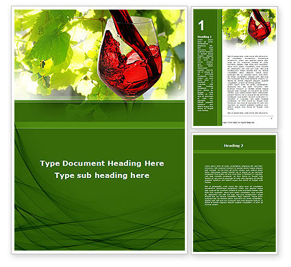 Food & Beverage: Red Winegrowing Word Template #09440