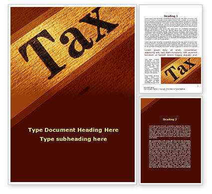 Tax Word Template, 09445, Financial/Accounting — PoweredTemplate.com