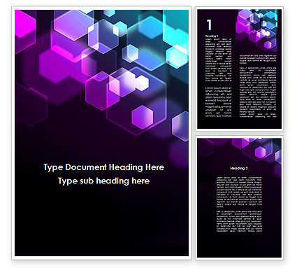 Abstract/Textures: Hexagonal Bokeh Word Template #09451