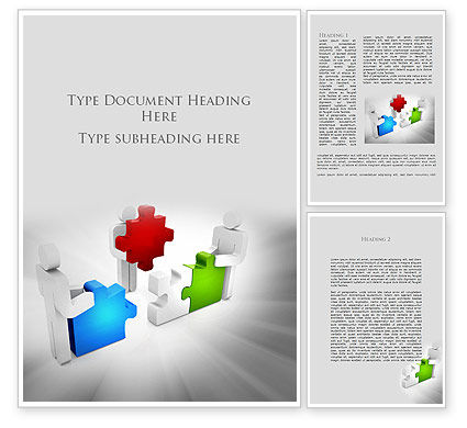 Completing The Puzzle Word Template, 09452, Consulting — PoweredTemplate.com