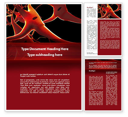Nervous System Word Template, 09455, Medical — PoweredTemplate.com