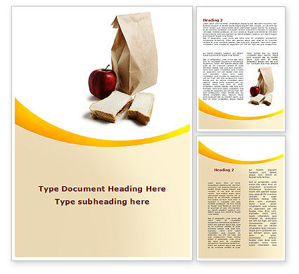 Bag Of Food Word Template, 09459, Food & Beverage — PoweredTemplate.com