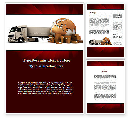 Cargo Delivery Service Word Template, 09469, Cars/Transportation — PoweredTemplate.com