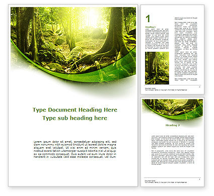 Nature & Environment: Jungle Forest Word Template #09472