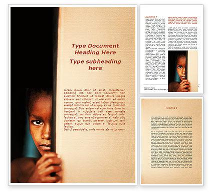 Brazilian Teen Word Template, 09479, People — PoweredTemplate.com