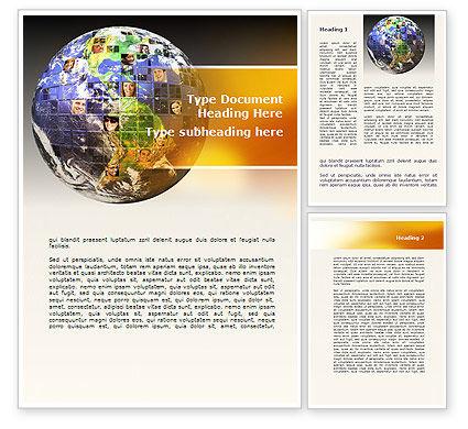 Global: Modelo do Word - bolsa global #09480