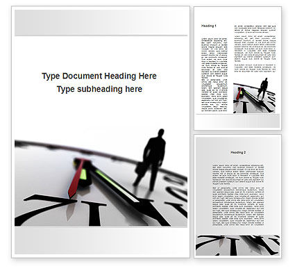 Business Concepts: Protect Your Time Word Template #09500