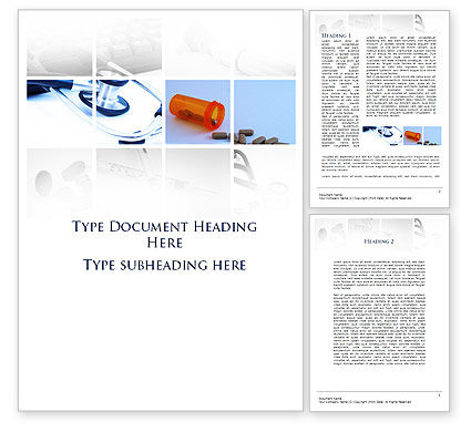Dietary Supplements Word Template, 09502, Medical — PoweredTemplate.com