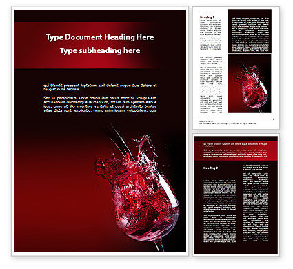 Fantastic red wine word template 09503 for Wine brochure template