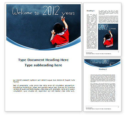 Welcome To 2012 Word Template, 09508, Education & Training — PoweredTemplate.com