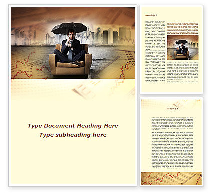 Insurance Umbrella Word Template, 09509, Consulting — PoweredTemplate.com