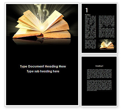 Education & Training: Scripture Word Template #09513