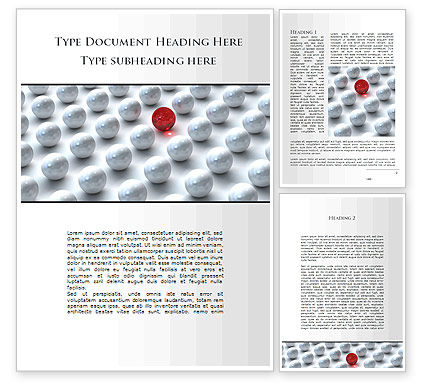 Red Among Whites Word Template, 09521, Consulting — PoweredTemplate.com