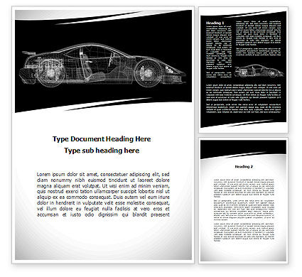 Cars/Transportation: Car Design Process Word Template #09524