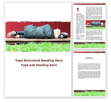 Vagabond Word Template, 09525, Consulting — PoweredTemplate.com