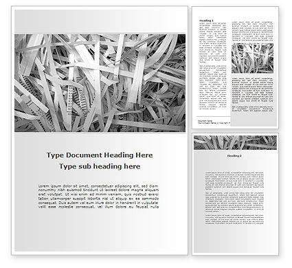 Consulting: Sliced Paper Word Template #09526