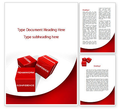 Successful Combination Word Template, 09532, Consulting — PoweredTemplate.com