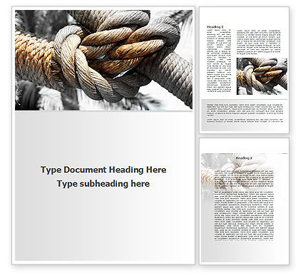 Fisherman's Bend Knot Word Template, 09534, Consulting — PoweredTemplate.com