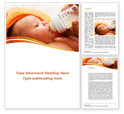 People: Artificial Feeding Word Template #09538