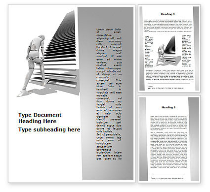 Upstairs Word Template, 09539, Consulting — PoweredTemplate.com
