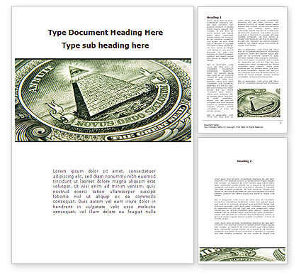Dollar's Print Word Template, 09540, Financial/Accounting — PoweredTemplate.com