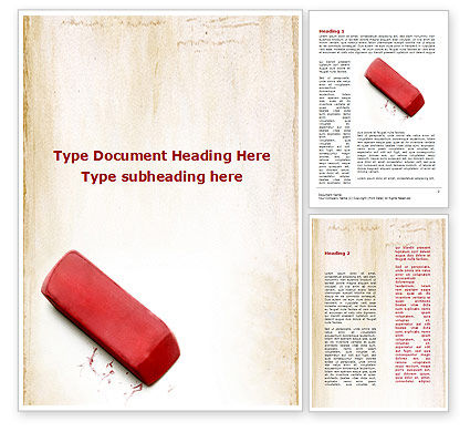 Business Concepts: Eraser Word Template #09548